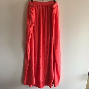 Liz Lange Maternity coral maxi skirt medium